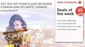 Did Air Canada suggest Atlantic Canada is a separate country?